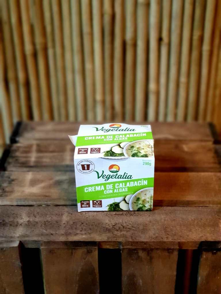 Crema de Calabacín con Algas Vegetalia