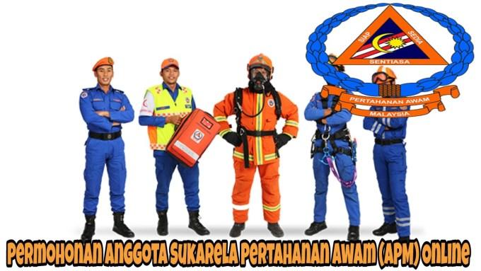 Permohonan Anggota Sukarela Pertahanan Awam (APM) Online