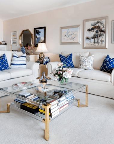 English roll arm sofa & coffee table