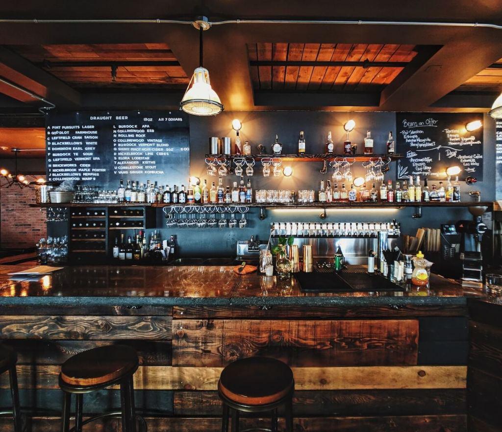 rustic bar interiors