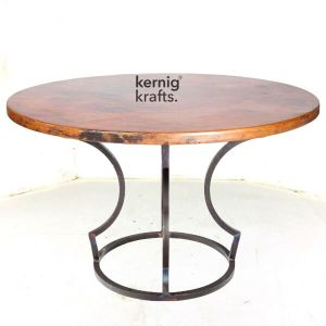 DINT02204 Art Deco Rustic Cafe Metal Table