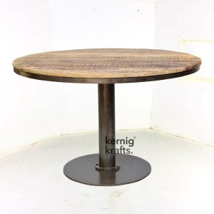 DINT61300 Candle Stand Mango Wood Cafeteria Table