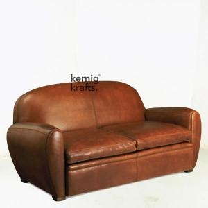 SOFA88896 Pure Leather Club Sofa for Waiting Area