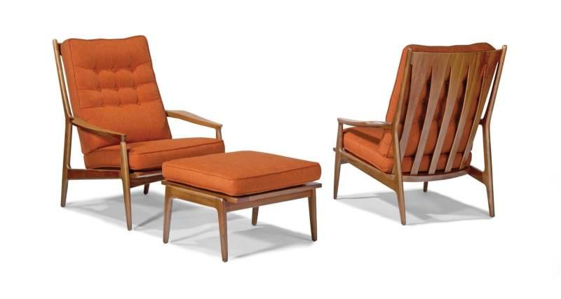 Milo Baughman chair design mid-century modern
