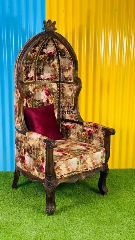 floral dome chair spring kernig krafts furniture wood