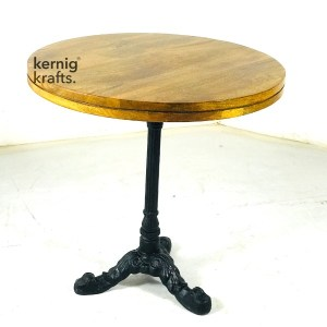 DINT22465 Cafe Two Seater Square Table With Rosewood