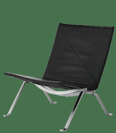 PK22 Classic Black Leather chair kernig krafts