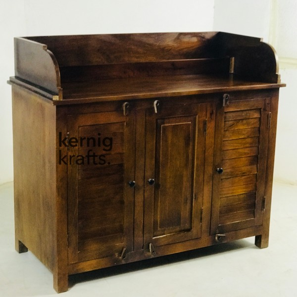 SDBB58446 Mango wood service Counter With Menu Pocket