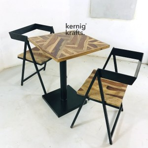 SETD31894 Mosaic Table Top Industrial Chair Dining Set for Bar