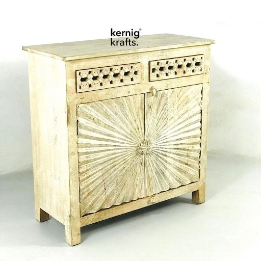 carved handmade rustic storage unit kernig krafts