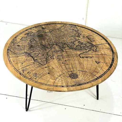 accent coffee table wood printing kernig krafts