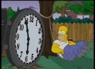 Simpsons-2-Hängematte-Uhr