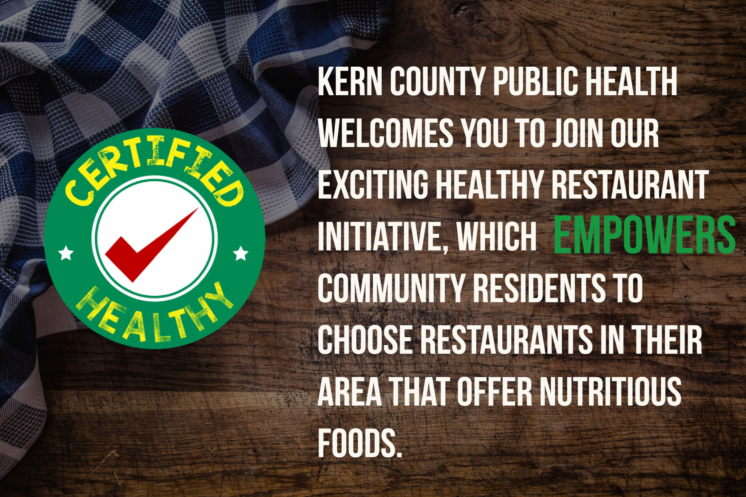 Certified Healthy Kern County Public Health Services