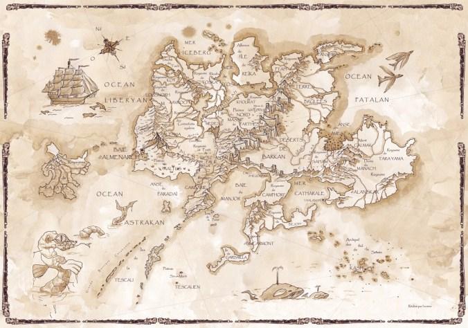 Les cartes du monde des Kerns de l'Oubli