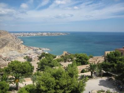 View from Santa Barbara Castillo, Alicante Spain