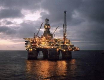 Oil Derrick at night