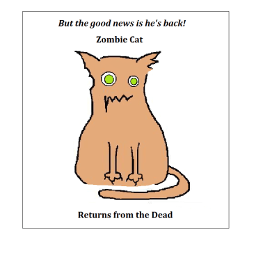 zombie cat sympathy card - inside