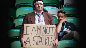 No, you're not a stalker, you're just lonely and looking for an instant girlfriend.