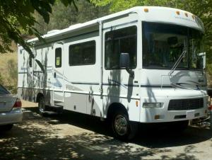 My new rig. We're at an RV park for a couple weeks before heading to BlogHer '11 in San Diego.