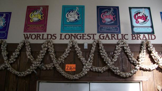 World's Longest Garlic Braid - 216 ft