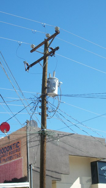 An electrical hazard in Mexico. Thank goodness for OSHA.