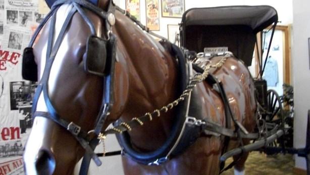 Life-size replica of Koko the Horse.