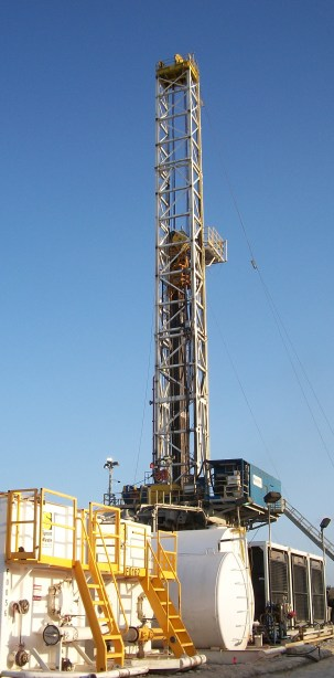 Large oil derrick in Texas