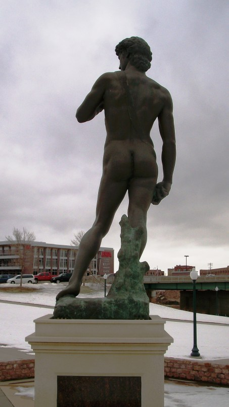 Michaelangelos's David in Sioux Falls, SD.