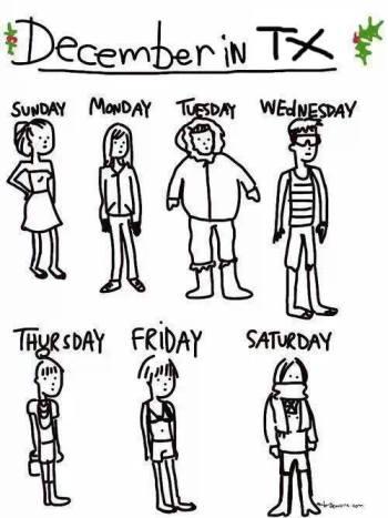 December in Texas.