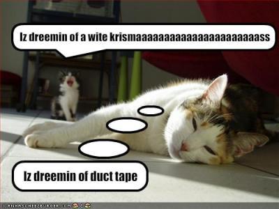 """""""I'm dreaming of a white Christmaaaaasss."""""""