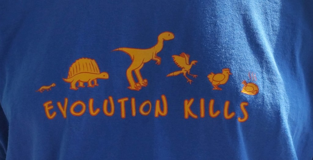Evolution kills... note the chicken.