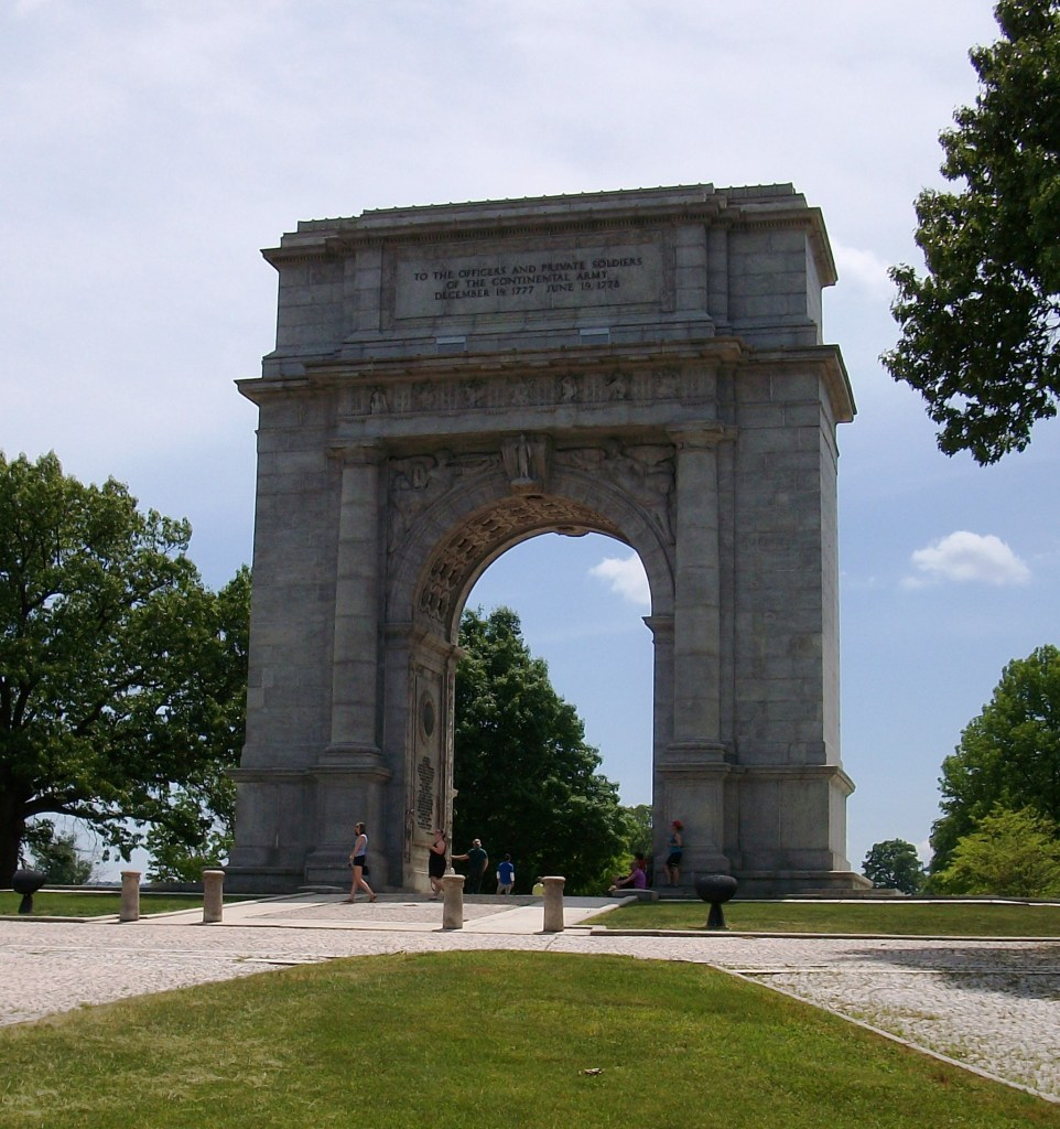 The National Memorial Arch at Valley Forge.