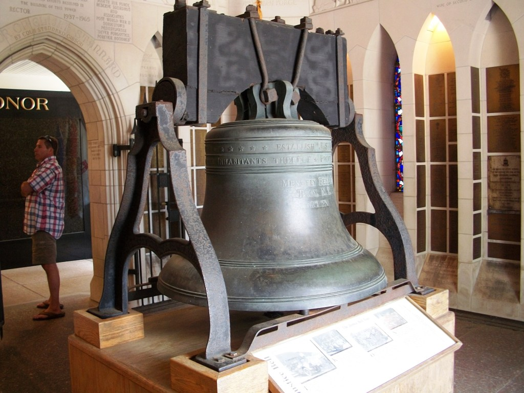Liberty Bell replica.