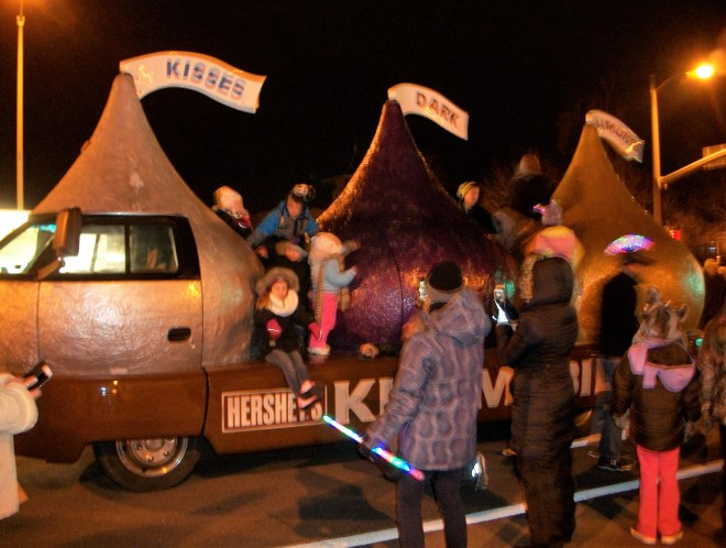 The Hershey's Kiss mobile.