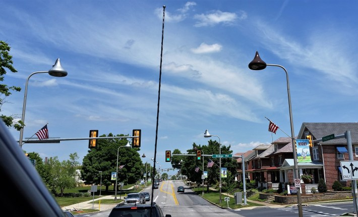 Street lamps shaped like Hershey's Kisses!