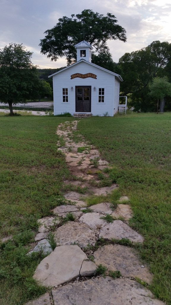 A Tiny Church in Ingram, Texas.