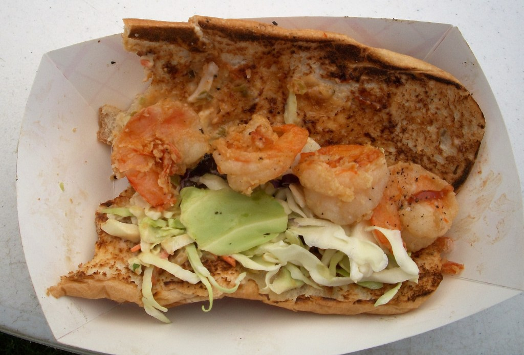 PB & J Shrimp Po'boy by Chef Bully.