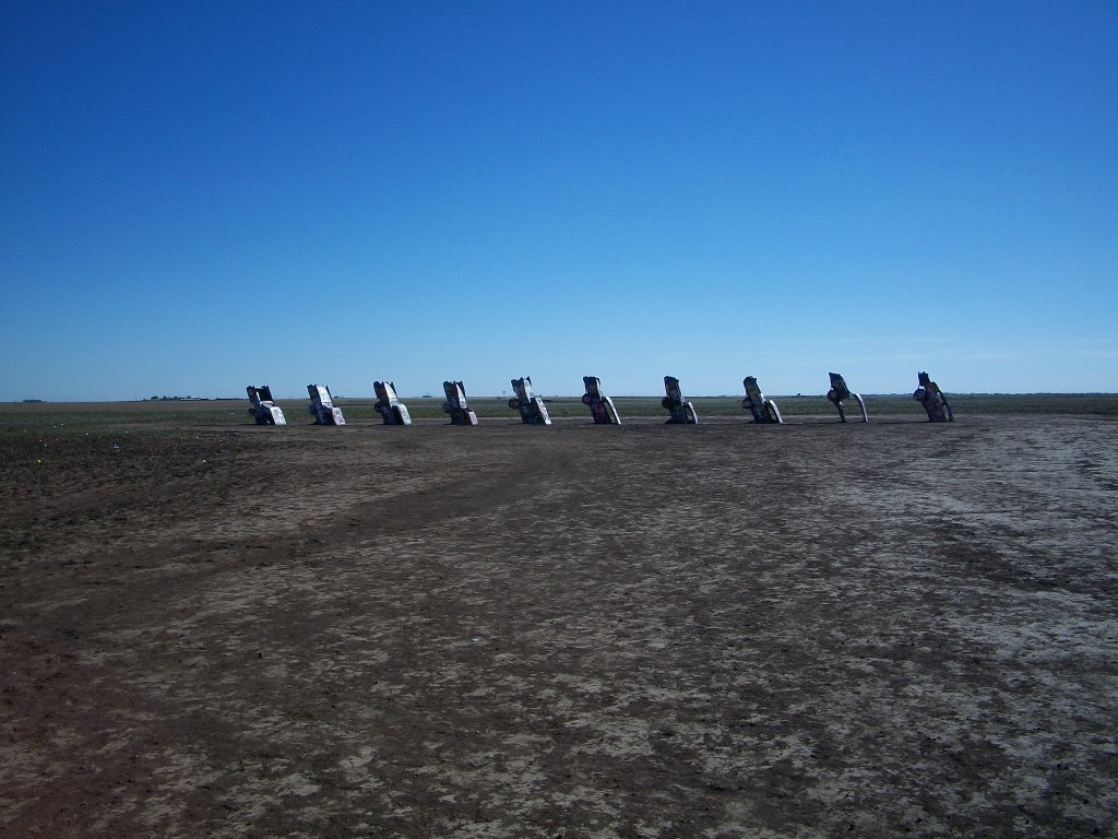The Cadillac Ranch. (I thought it would look bigger.)