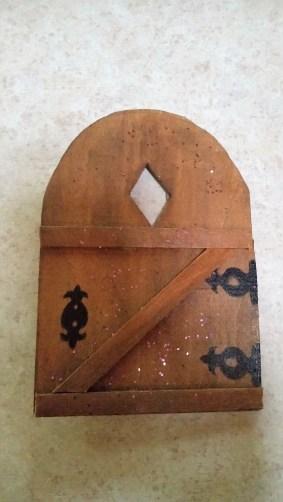 Inside of a door.