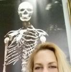 Giant skeleton at Mutter Museum in Philadelphia, PA.