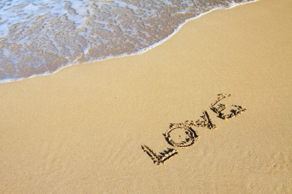 Love on the beach.