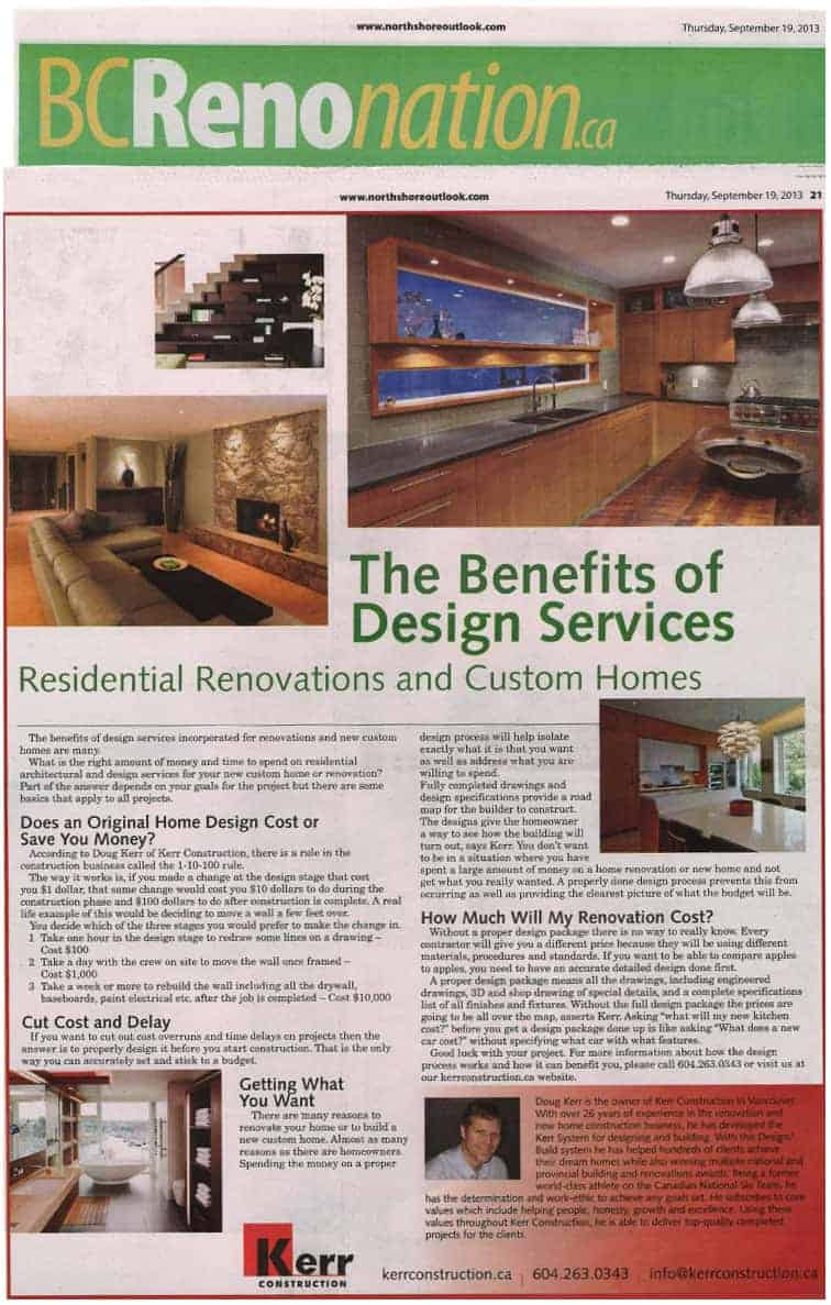 The Benefits Of Design Services North Shore Outlook Newspaper