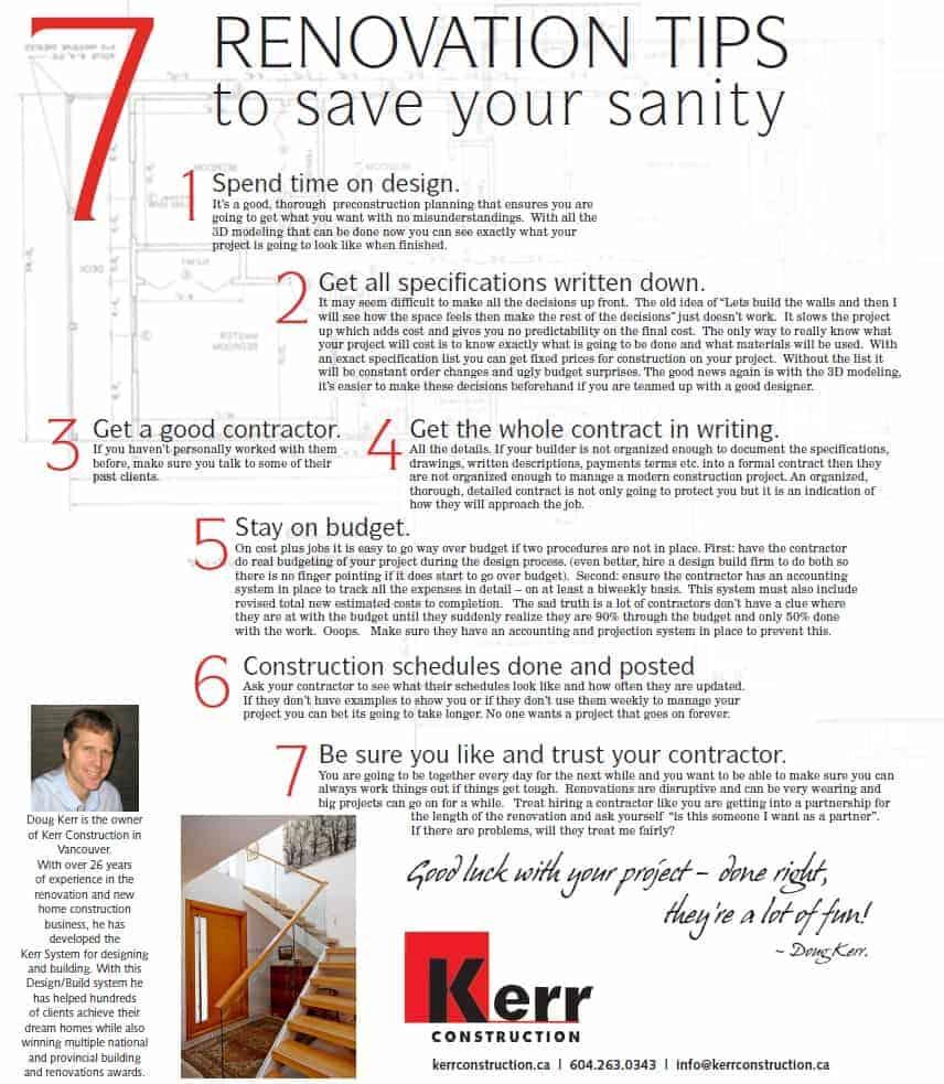 7 home renovation tips