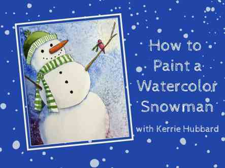 how-to-paint-a-watercolor-snowman-banner