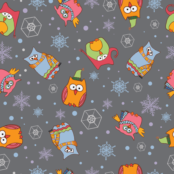 Winter Owls Pattern