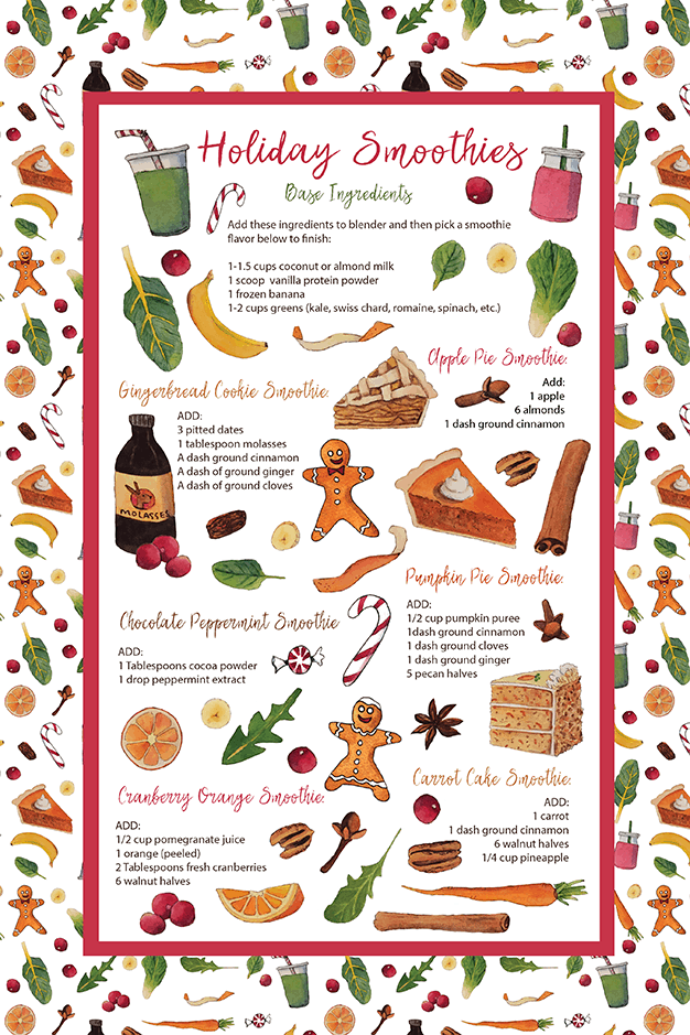 Holiday Smoothie Tea Towel
