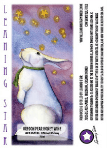 Leaning Star Bunny Label Close Up