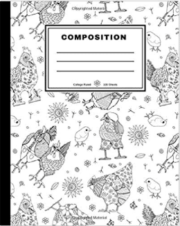 Whimsical Chickens Notebook