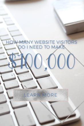 How Many Website Visitors Do I Need to Make $100,000