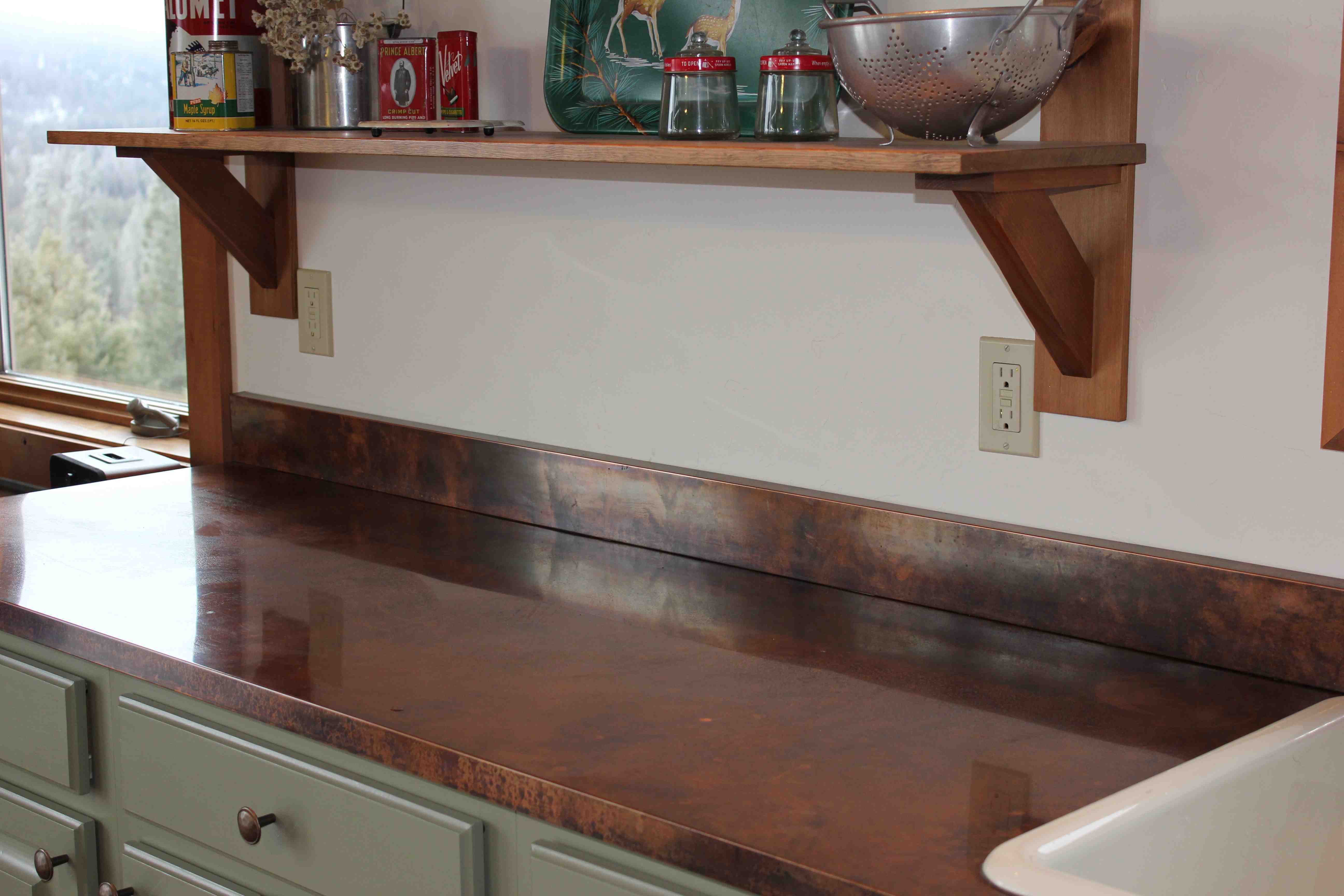 copper kitchen countertops personalized towels at camp more